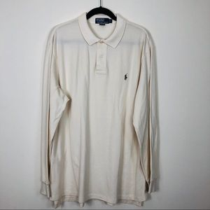 Polo by Ralph Lauren Small Pony Ivory Polo Size XL